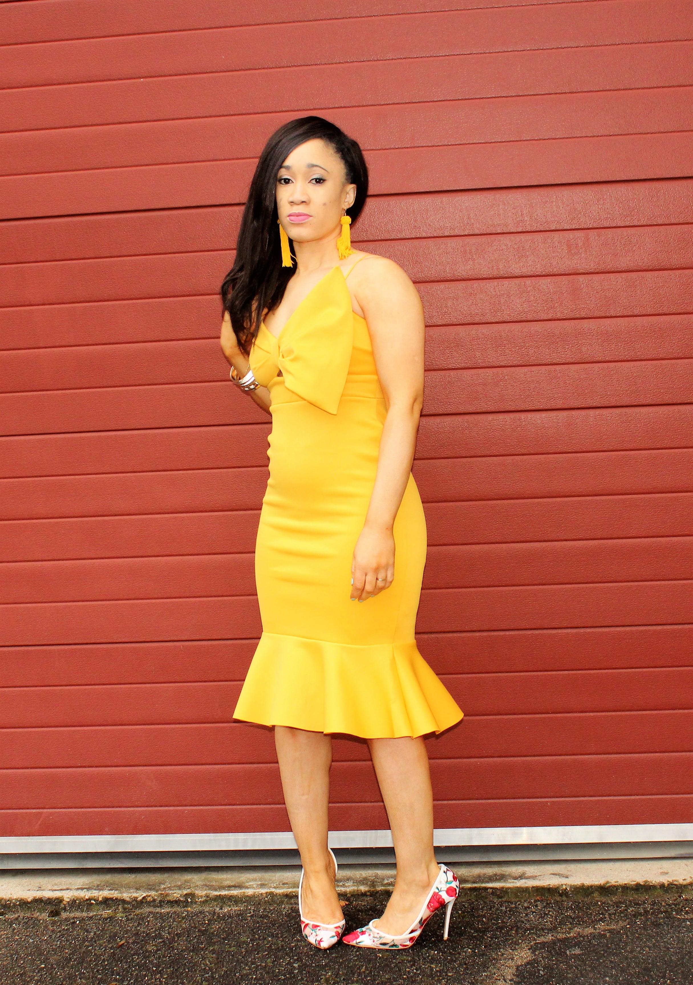 Robe jaune asos
