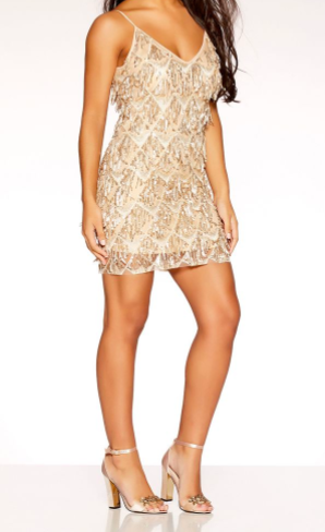 robe longue brillante