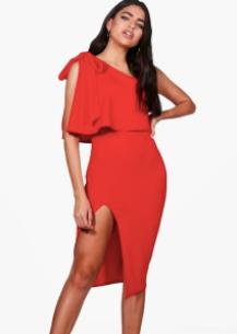 Robe rouge asymétrique Anna Fashion Therapy