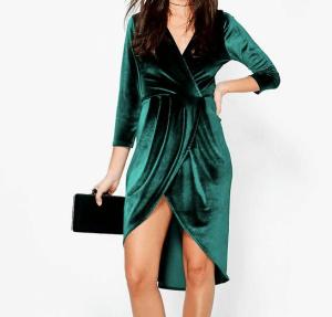 Robe velours verte Anna Fashion Therapy