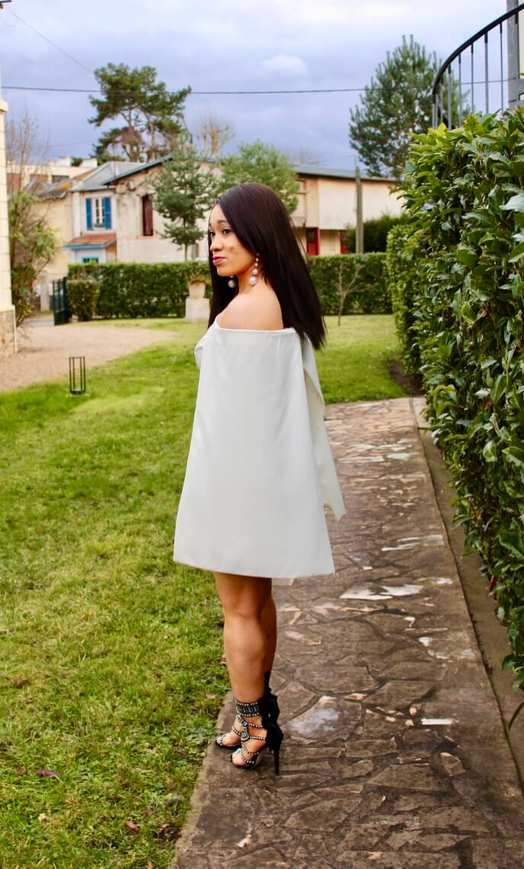 La robe cape blanche