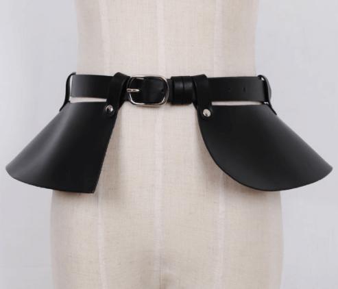 ceinture peplum noire