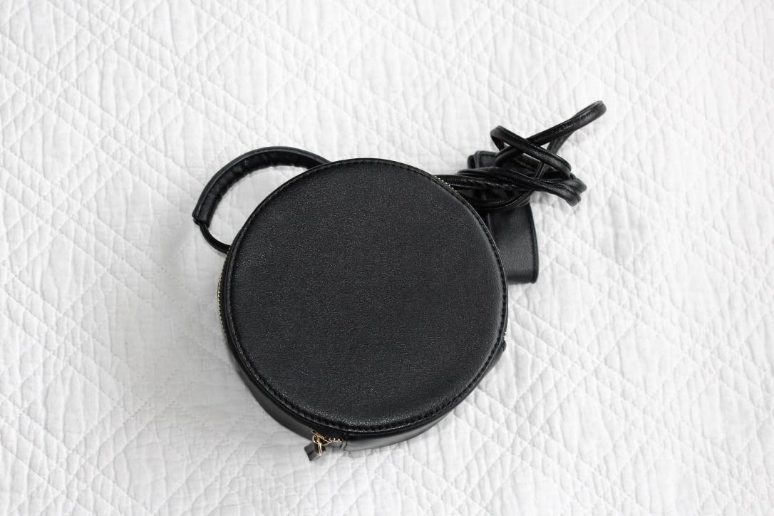 sac noir rond