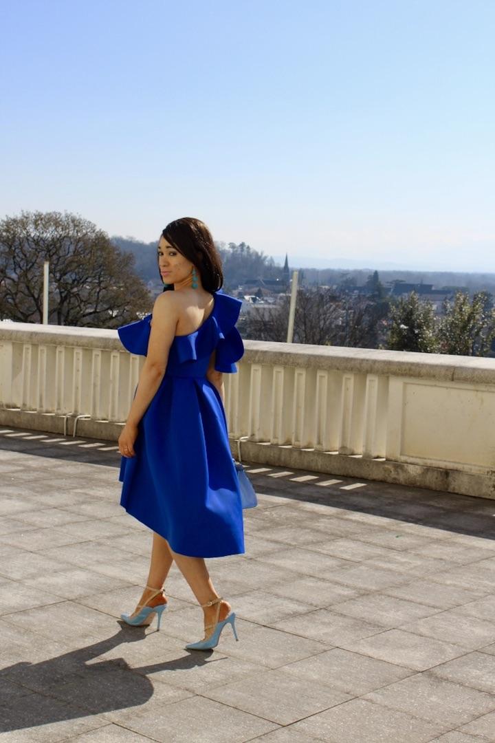 Robe bleue cobalt