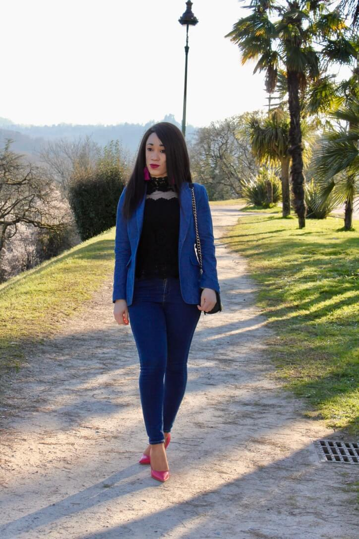 tendance printemps double denim